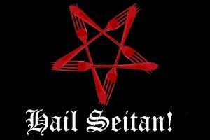 Hail Seitan - Gabelpentagramm