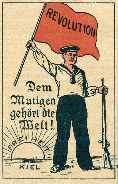 Plakat der Kieler Revolutionäre 1918