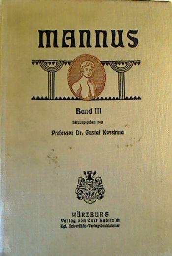 Band III der Mannusbibliothek (Titelbild)