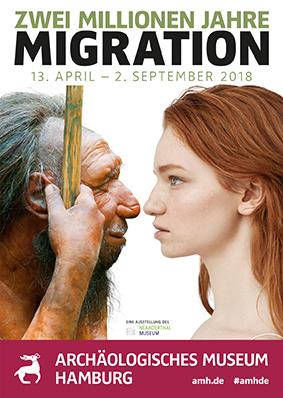 Plakat Ausstellung 2 Millionen Jahre Migration