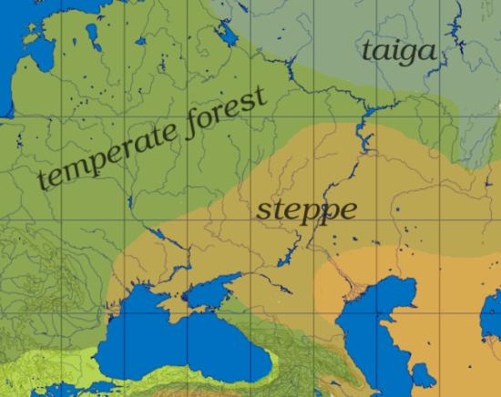 Klimakarten der Pontisch-Kaspischen Region