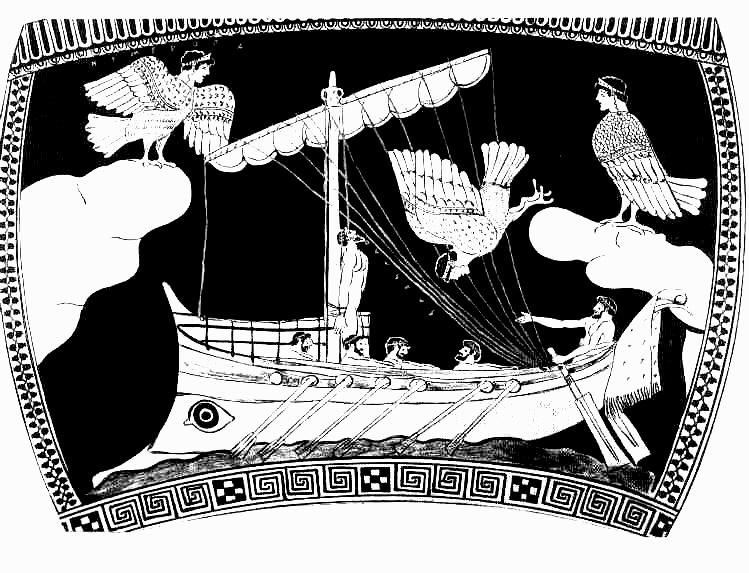 Odysseus und die Sirenen - nach einem Vasenbild