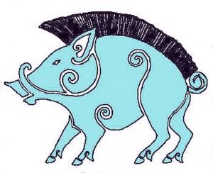 Wildschwein - nach einer antiken Bronzefibel